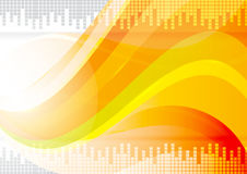 Orange wave abstract background vector Stock Image