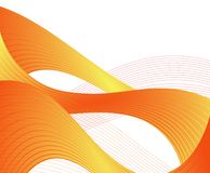 Orange wave background Royalty Free Stock Image