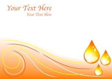 Orange wave background Royalty Free Stock Image