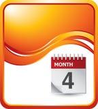 Orange wave background with calendar Royalty Free Stock Photos
