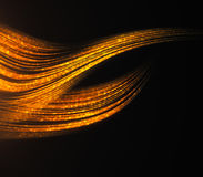 Orange wave background. Creative orange wave on dark background Stock Photo