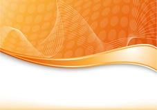 orange wave för kort royaltyfri illustrationer