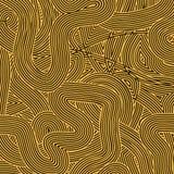 Orange Wave Line Pattern Royalty Free Stock Image