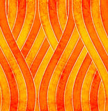 Orange wave poster Royalty Free Stock Photo