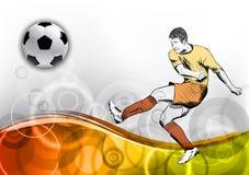 Orange wave soccer Stock Images