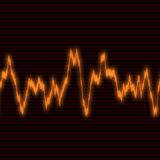 Orange waveform Stock Photos
