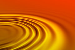 Orange waves Stock Photos