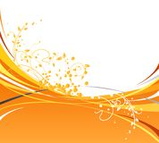 Orange Waves Royalty Free Stock Images