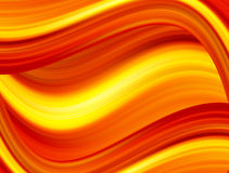 Orange waves Stock Image
