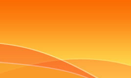 Orange waves abstract background Royalty Free Stock Image