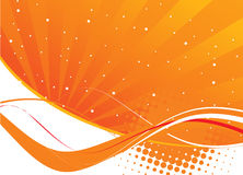 Orange waves abstract design Stock Photos