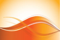 Orange waves background. The vector illustration contains the image of orange waves background Stock Photography