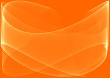 Orange waves background Stock Images