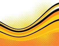 Orange waves background Stock Photos