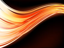 Orange waves on black background. EPS 8 Stock Photo