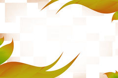 Orange waves both side, abstrack background Royalty Free Stock Image