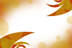 Orange waves buttom side, abstrack background Royalty Free Stock Photos