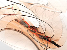 Orange waves Stock Image