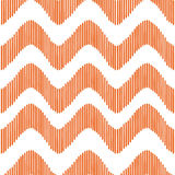 Orange waves pattern. Abstract line designe for fabrics, clothes Stock Photos