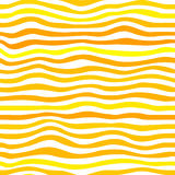Orange waves vector simple seamless pattern Royalty Free Stock Photography