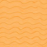 Orange wavy seamless pattern Stock Image