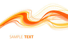 Orange wavy template Royalty Free Stock Image