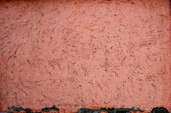 Orange weathered plaster wall background Royalty Free Stock Photography