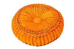 Orange weaving pillow Royalty Free Stock Image
