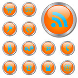 Orange Web Buttons Royalty Free Stock Photography
