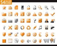 Orange Web Icons Royalty Free Stock Photography