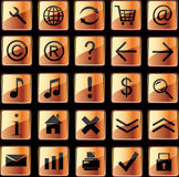 Orange web icons Stock Photo