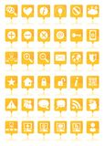 Orange web icons set Stock Photography
