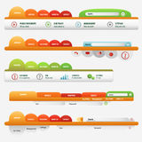 Orange web site business set Stock Image