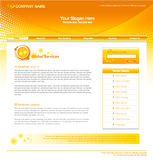 Orange Web Template Royalty Free Stock Photos