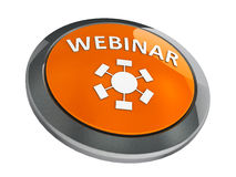 Orange webinar icon isometry Stock Image