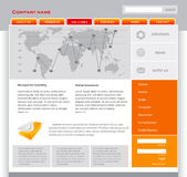 Orange webpage template. In editable vector format Royalty Free Stock Photography