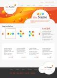 Orange website Royalty Free Stock Image