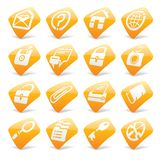 Orange website and internet icons 1 Royalty Free Stock Photo