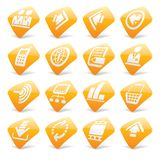 Orange website and internet icons 2 Stock Image
