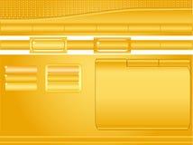 Orange Website template Royalty Free Stock Photos