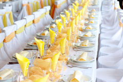 Orange wedding Stock Photography