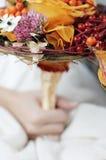 Orange wedding bouquet Stock Image