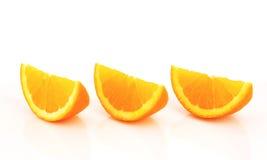 Orange wedges Royalty Free Stock Image