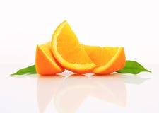 Orange wedges Stock Image