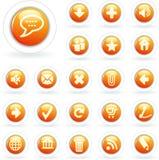 Orange Weiß der Luftblase lizenzfreie abbildung