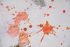 Orange weißer roter goldener Stellenhintergrund, wächserner Winterhintergrund Lizenzfreie Stockbilder