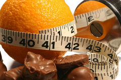 Orange weight loss Royalty Free Stock Photos