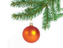 Orange Weihnachtskugel Lizenzfreie Stockfotografie