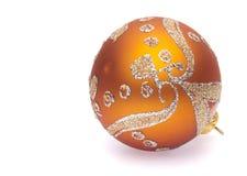 orange Weihnachtskugel Lizenzfreies Stockbild