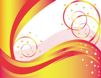 Orange Welle vektor abbildung